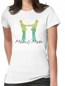 Mister and Mister, Customizable watercolor favor Wedding celebration Womens Fitted T-Shirt