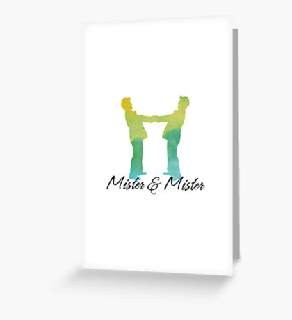 Mister and Mister, Customizable watercolor favor Wedding celebration Greeting Card