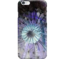 Dandelion Seed Head, Invert Colours iPhone Case/Skin