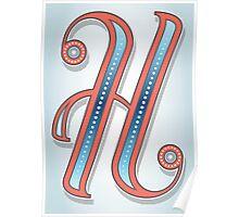Letter H Poster