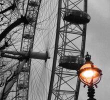 London Eye and street lamps Sticker