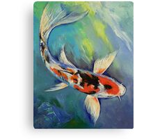 Showa Butterfly Koi Canvas Print