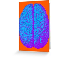 Psychedelic Brain Greeting Card