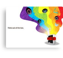 Think Out Of The Box. Canvas Print