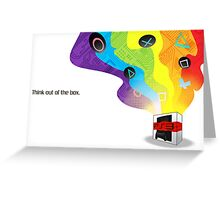 Think Out Of The Box. Greeting Card