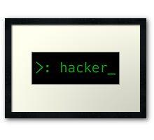 Terminal Hacker Design Framed Print