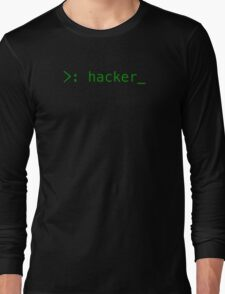 Terminal Hacker Design Long Sleeve T-Shirt
