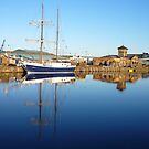 Boating at Leith Docks by Yonmei
