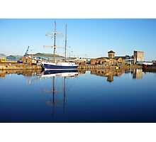 Boating at Leith Docks Photographic Print