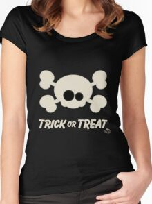 Cute Skull Trick or Treat Women's Fitted Scoop T-Shirt