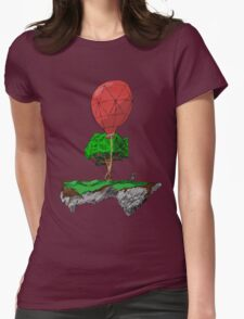 Floating Rock balloon Womens Fitted T-Shirt