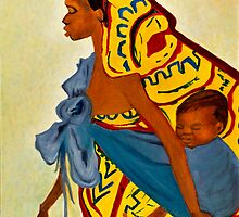 African Mother and Child by Sher Nasser