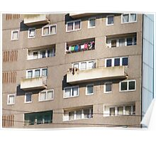 Multi Story Washing Line Poster