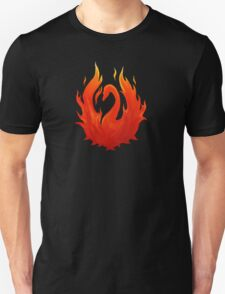 Swan on Fire (Color) T-Shirt