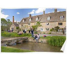 Lower Slaughter village, Cotswolds Poster
