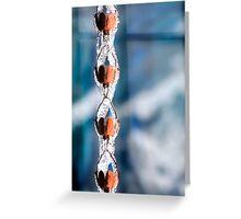 Icy Rain Chain Greeting Card