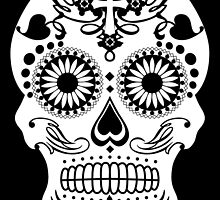 Sugar Skull, Day of the Dead Skull by monsterplanet