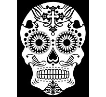 Sugar Skull, Day of the Dead Skull Photographic Print
