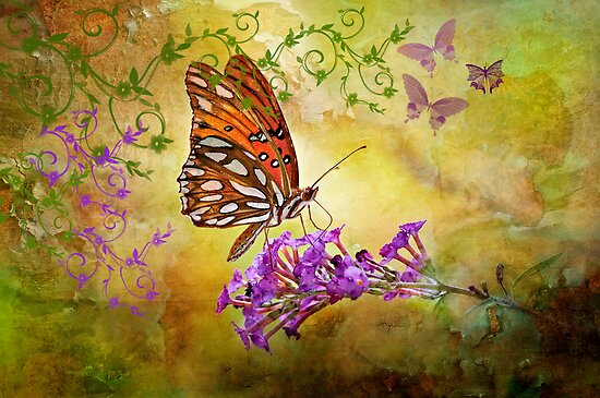 Butterfly Fantasy by Bonnie T.  Barry