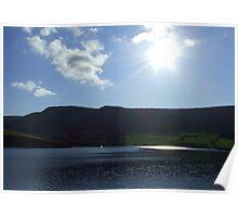 Sunshine Over Dovestones Reservoir Poster