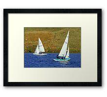 Wind Sailing Framed Print