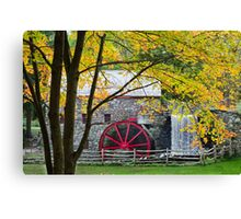 Sudbury Grist Mill in the Fall Canvas Print