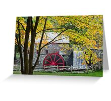 Sudbury Grist Mill in the Fall Greeting Card