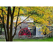 Sudbury Grist Mill in the Fall Photographic Print
