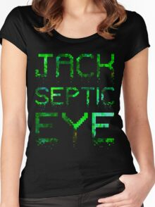 Crumbled Pixels | JackSepticEye Women's Fitted Scoop T-Shirt