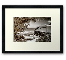 Living on the beach... Framed Print