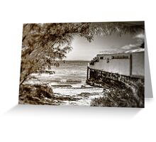 Living on the beach... Greeting Card