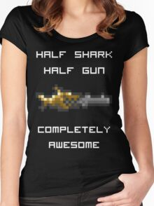 Minishark Terraria (reversed colours) Women's Fitted Scoop T-Shirt