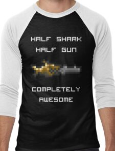 Minishark Terraria (reversed colours) Men's Baseball ¾ T-Shirt
