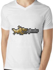 Minishark Terraria (reversed colours) Mens V-Neck T-Shirt