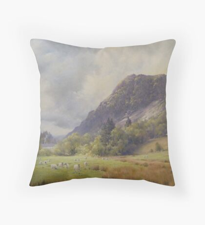Nr Grange, Cumbria Throw Pillow