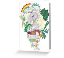 Bad*ss Vegan Unicorn Greeting Card