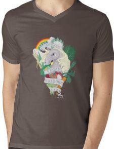 Bad*ss Vegan Unicorn Mens V-Neck T-Shirt