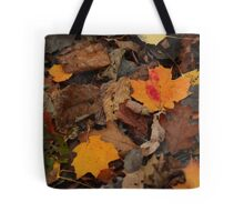 The Heart of the Leaf Grows Red Tote Bag
