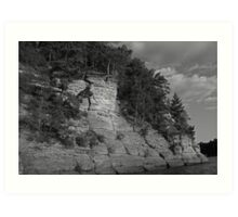 Sandstone Formation in Black and White Art Print