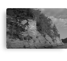 Sandstone Formation in Black and White Metal Print