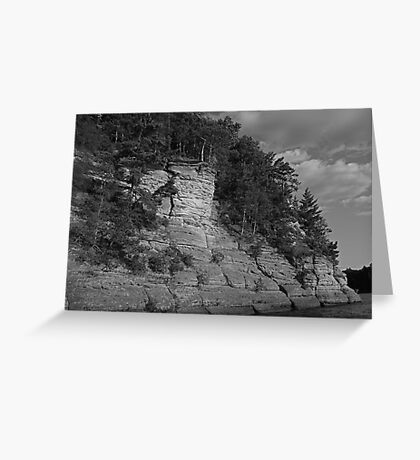 Sandstone Formation in Black and White Greeting Card