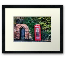 The Great British Telephone Box Framed Print