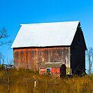 Red Barn in the Fall by A. Kakuk