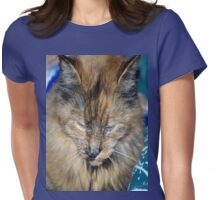 Tortes Shell Cat Has Mark Of The Paw Womens Fitted T-Shirt