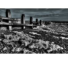 The Foam, the Surf & the Groyne Photographic Print