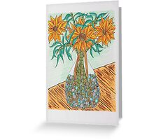 Flowers in Vase Greeting Card