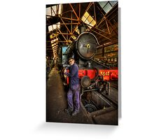 Train Of Thoughts Greeting Card
