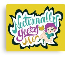 Nocturnally Geeky Me Banner Canvas Print