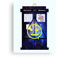 Sherlock Holmes Harry Potter Doctor Who Canvas Print