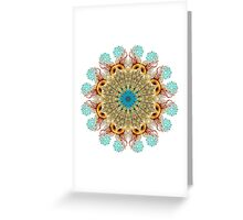 Peacock Jellyfish Mandala Greeting Card